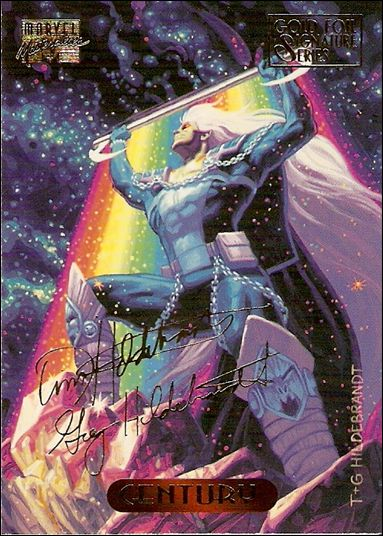 1994 Marvel Masterpieces (Gold-Foil Signature Parallel Base Set) 21-A by Fleer
