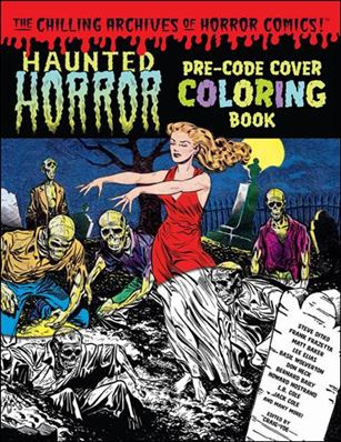 Haunted Horror Pre-Code Cover Coloring Book 1-A