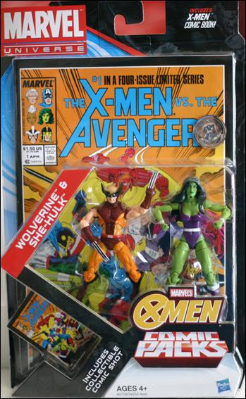 Marvel Universe: X-Men (Comic-Packs)  Wolverine and She-Hulk by Hasbro