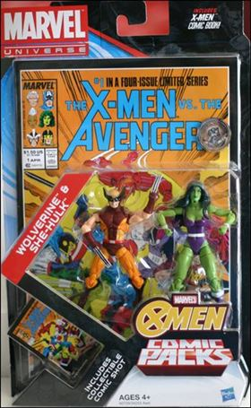 Marvel Universe: X-Men (Comic-Packs)  Wolverine and She-Hulk