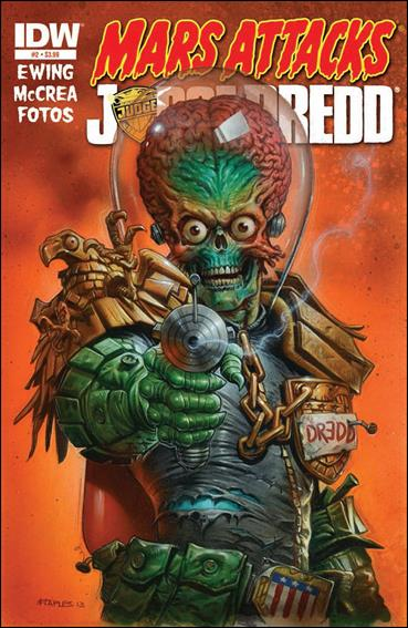 Mars Attacks Judge Dredd 2-A by IDW