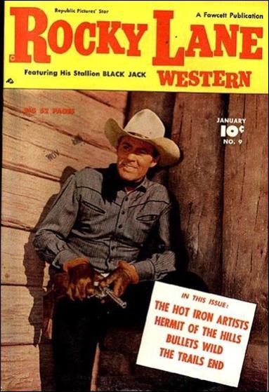 Rocky Lane Western (1949) 9-A by Fawcett