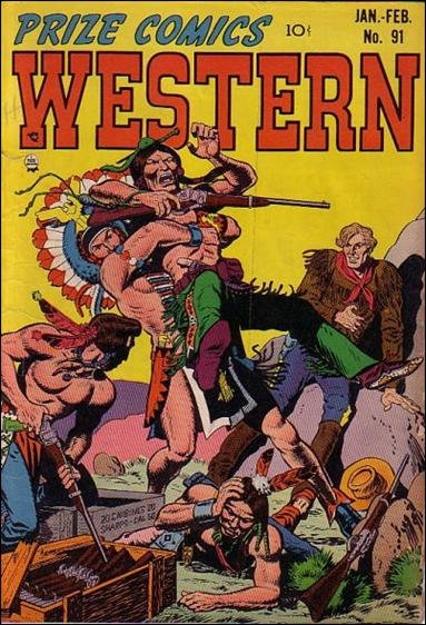 Prize Comics Western 91-A by Feature