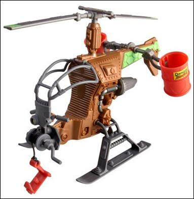 Teenage Mutant Ninja Turtles (2012) Vehicles and Playsets Mutagen Ooze Drop Copter (Loose) by Playmates