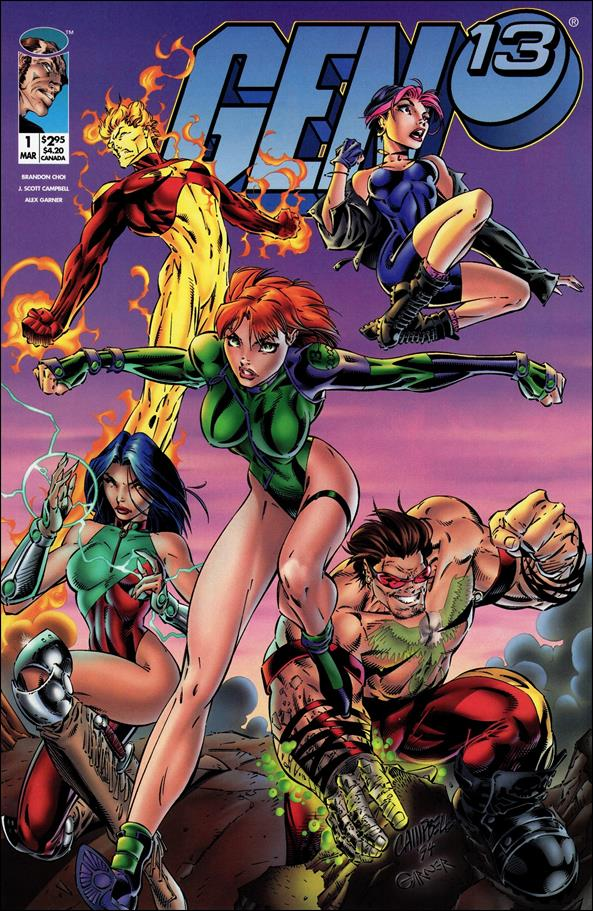 Gen13 (1995) 1-A by WildStorm