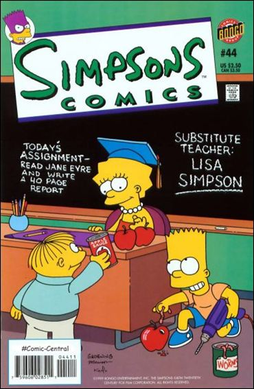 Simpsons Comics 44-A by Bongo