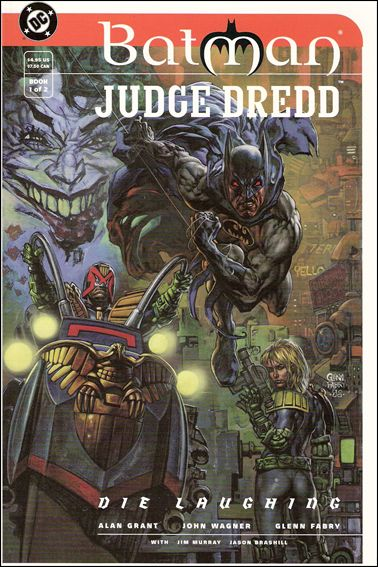 "Batman/Judge Dredd: ""Die Laughing"" 1-A by DC"