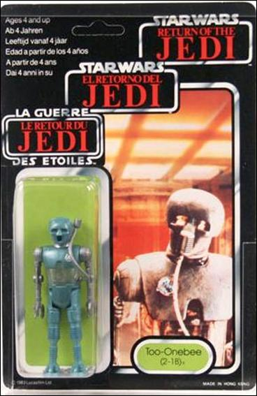 "Star Wars 3 3/4"" Basic Action Figures (Vintage) Too-Onebee (2-1B) (Tri-Logo) by Kenner"