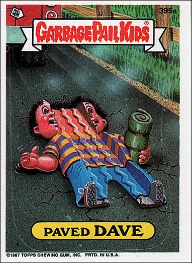 Garbage Pail Kids Series 10 395a A Jan 1987 Trading Card