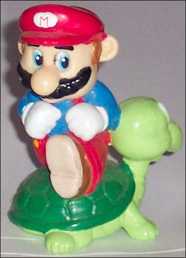 Nintendo Figurines Mario w/turtle (Brown Hair) by Applause