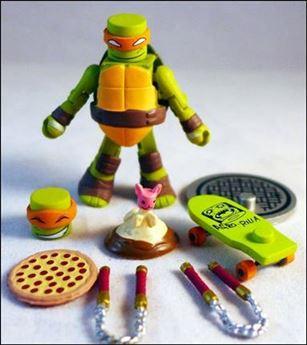 Teenage Mutant Ninja Turtles Minimates (Series 2) Sewer Michelangelo