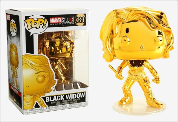 POP! Marvel Black Widow (Gold Chrome) by Funko