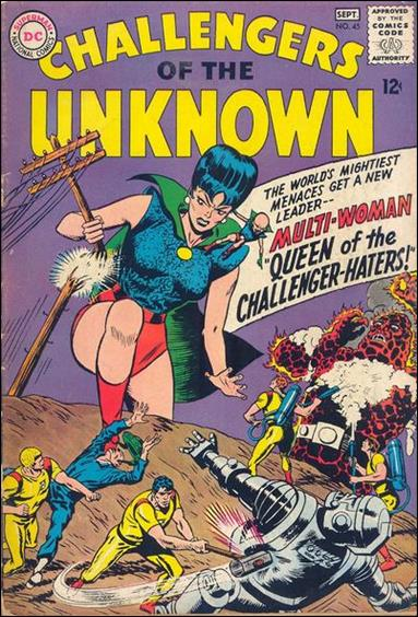 Challengers of the Unknown (1958) 45-A by DC