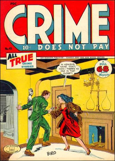 Crime Does not Pay 45-A by Lev Gleason Productions