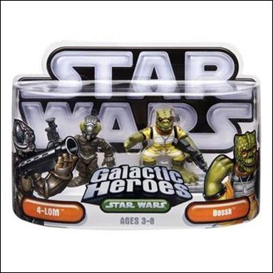 Star Wars: Galactic Heroes 4-LOM and Bossk by Hasbro
