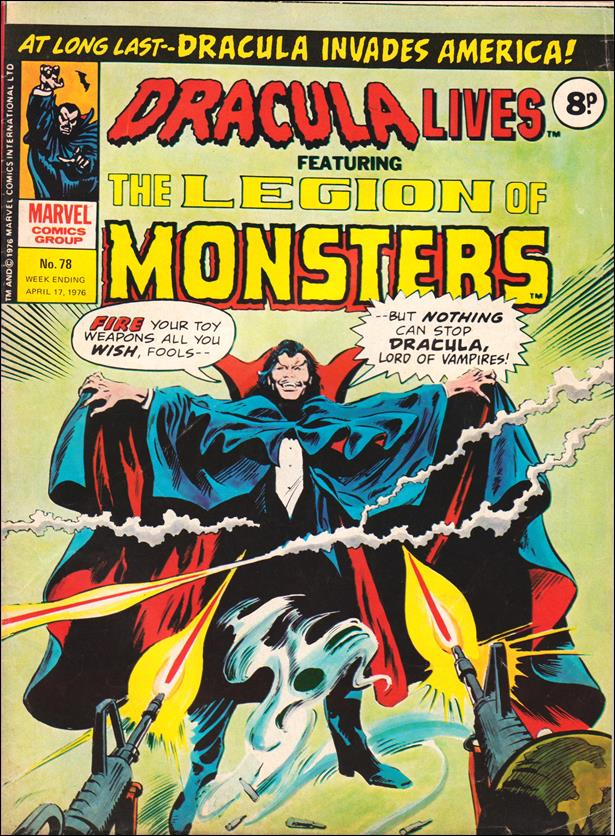 Dracula Lives (UK) 78-A by Marvel UK