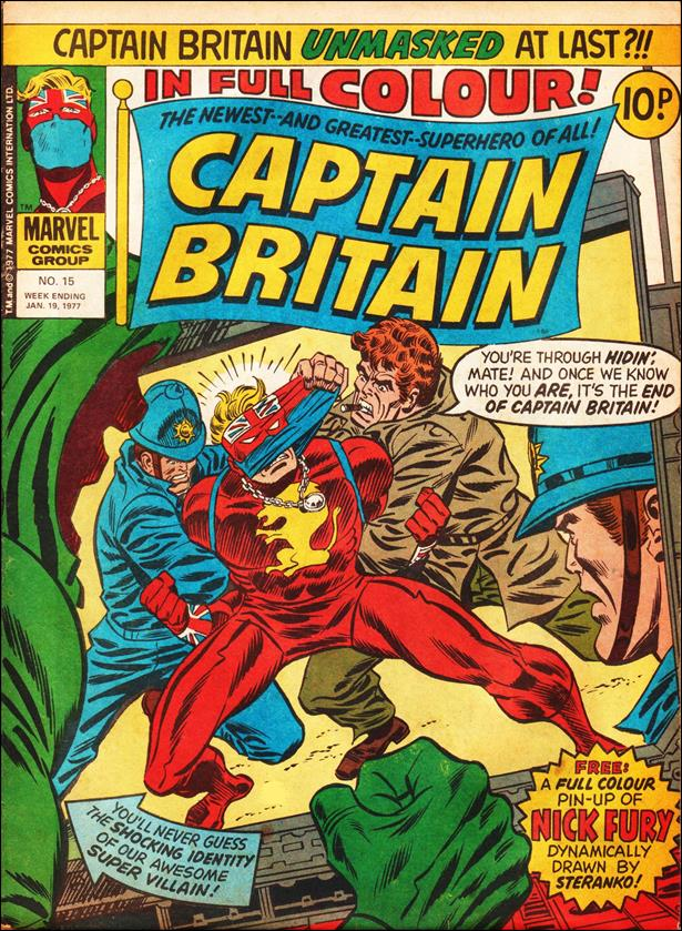 Captain Britain (UK) (1976) 15-A by Marvel UK