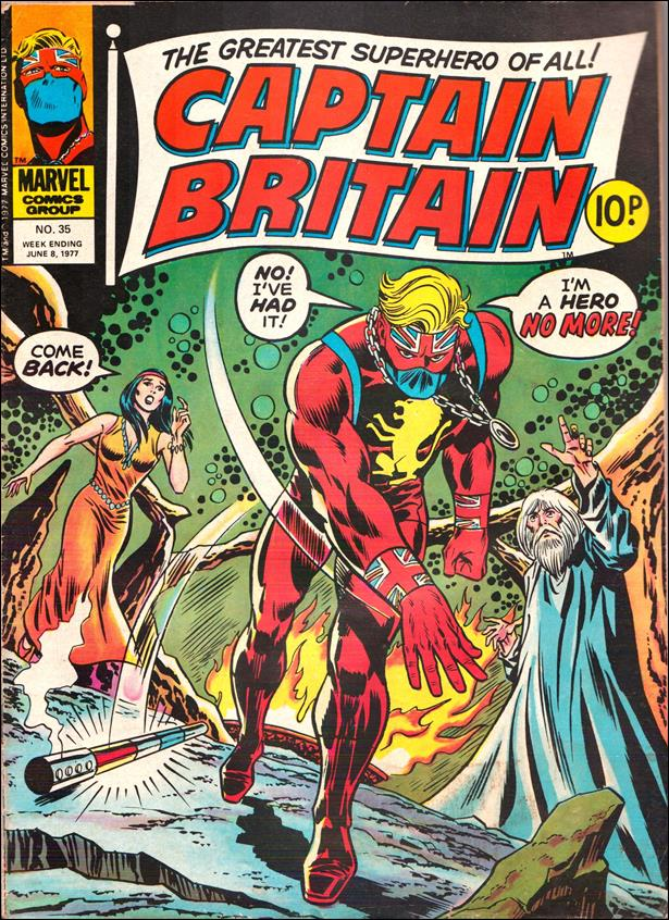 Captain Britain (UK) (1976) 35-A by Marvel UK