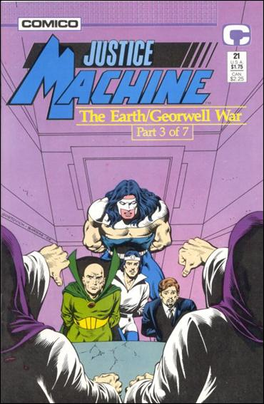 Justice Machine (1987) 21-A by Comico