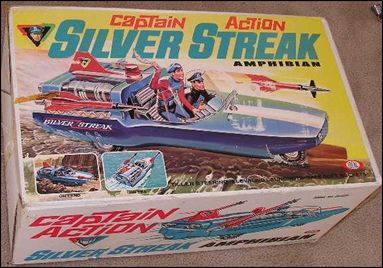 Captain Action (Vehicles) Silver Streak Amphibian by Ideal