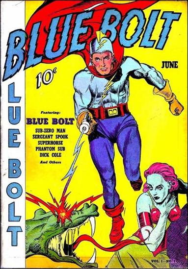 Blue Bolt (1940) 1-A by Novelty Press