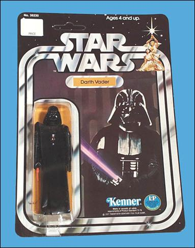 "Star Wars 3 3/4"" Basic Action Figures (Vintage) Darth Vader (SW 12 Back) by Kenner"