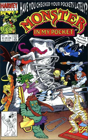 Monster in My Pocket 1-A by Harvey