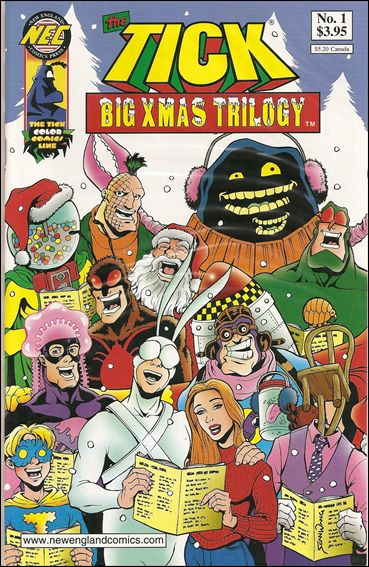 Tick's Big Xmas Trilogy 1-A by New England Comics Press (NEC / NECP)