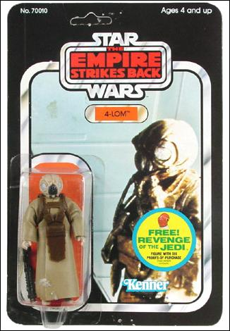 Star Wars 3 3/4&quot; Basic Action Figures (Vintage) 4-LOM (ESB) by Kenner