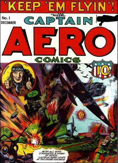 Captain Aero Comics 1-A by Continental Magazines