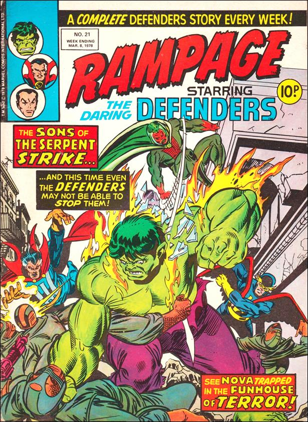 Rampage Weekly (UK) 21-A by Marvel UK