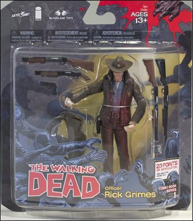"""Walking Dead (Comic Book Series 1) """"Bloody"""" Officer Rick Grimes by McFarlane Toys"""