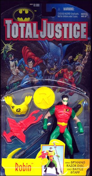 Total Justice Robin (Spinning Razor Disc and Battle Suit) by Kenner