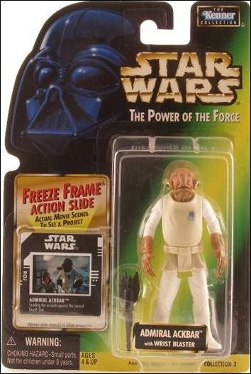 "Star Wars: The Power of the Force 2 3 3/4"" Basic Action Figures Admiral Ackbar (Wrist Blaster) w/ FF by Kenner"