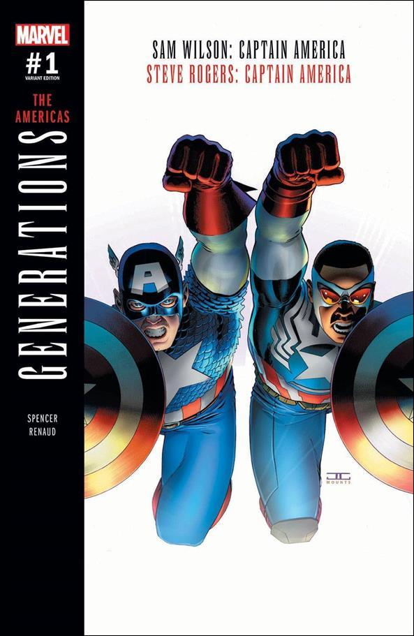Generations: Sam Wilson Captain America & Steve Rogers Captain America 1-B by Marvel