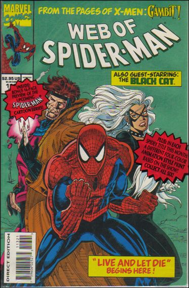 Web of Spider-Man (1985) 113-A by Marvel