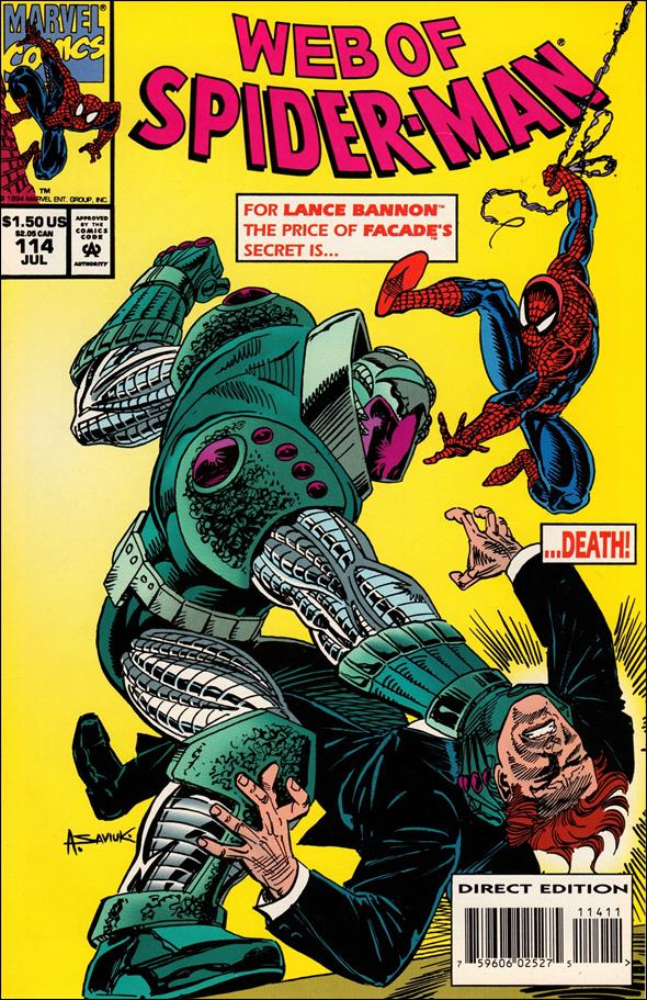 Web of Spider-Man (1985) 114-A by Marvel