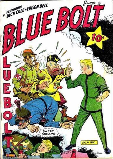 Blue Bolt (1943) 1-A by Novelty Press