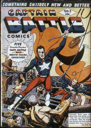 Captain Battle Comics 2-A by Lev Gleason Productions