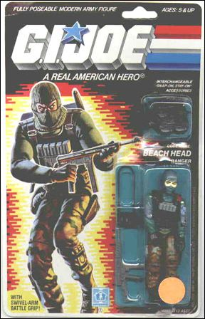 "G.I. Joe: A Real American Hero 3 3/4"" Basic Action Figures Beach Head (Ranger) by Hasbro"