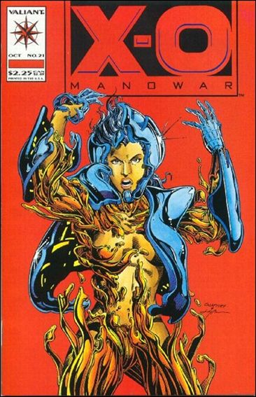 X-O Manowar (1992) 21-A by Valiant