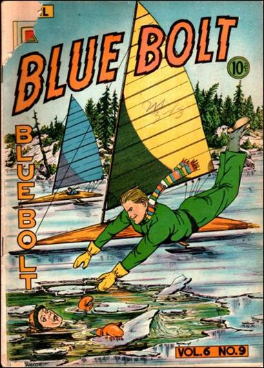 Blue Bolt (1945) 9-A by Novelty Press