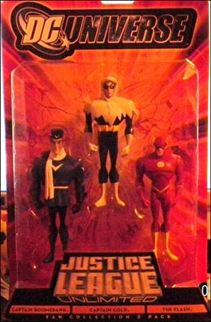 DC Universe: Justice League Unlimited - Fan Collection (3-Packs) Captain Boomerang/ Captian Cold/ Flash