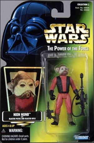 "Star Wars: The Power of the Force 2 3 3/4"" Basic Action Figures Nien Nunb (Holofoil Sticker)"