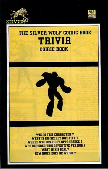 Silverwolf Comic Book Trivia Comic Book 3-A by Silverwolf