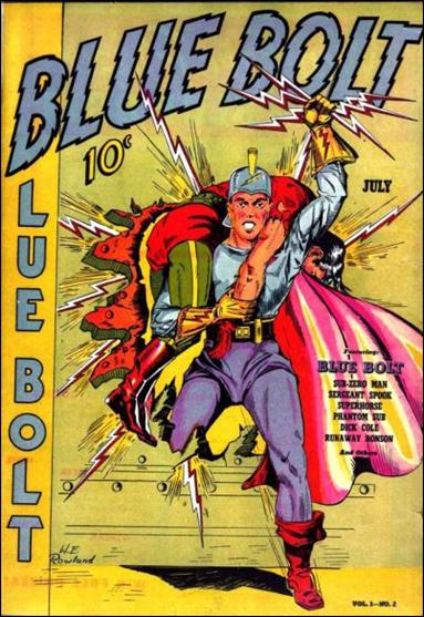 Blue Bolt (1940) 2-A by Novelty Press