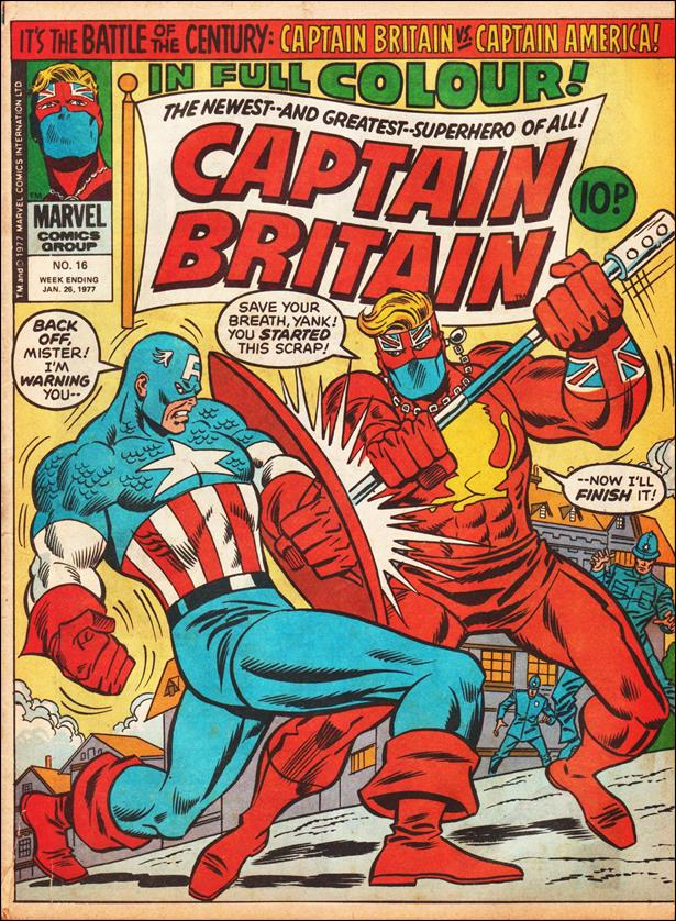 Captain Britain (UK) (1976) 16-A by Marvel UK