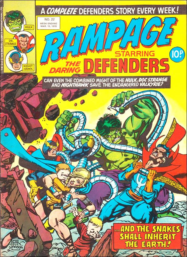 Rampage Weekly (UK) 22-A by Marvel UK