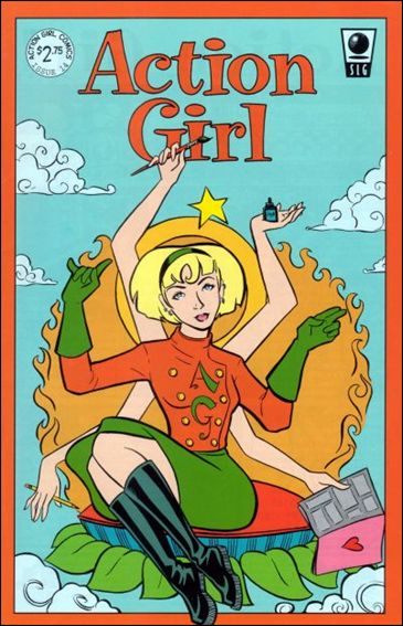 Action Girl Comics 14-A by Slave Labor Graphics (SLG) Publishing