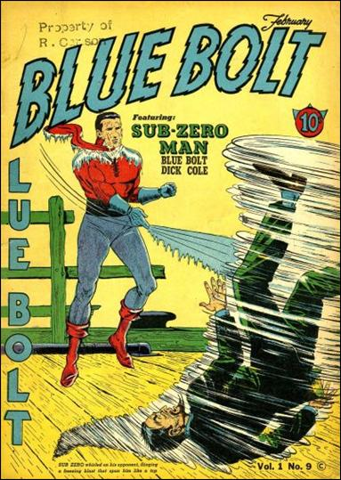 Blue Bolt (1940) 9-A by Novelty Press
